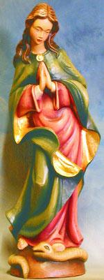 Bild Holzfigur Maria betend Nr. 61 handgeschnitzt