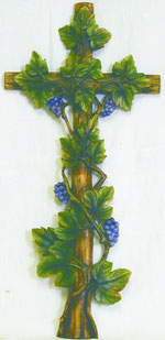 Bild Rebenkreuz Nr. 232 handgeschnitzt aus Holz