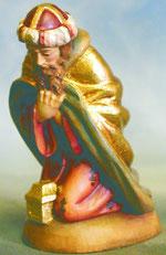 Bild Holzfigur König kniend Nr. 905 handgeschnitzt