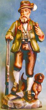 Bild Holzfigur Förster/Jäger Nr. 101 handgeschnitzt