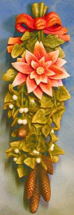 Bild Blumen Winter Nr. 364 handgeschnitzt aus Holz