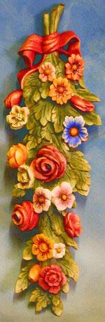 Bild Blumen Sommer Nr. 362 handgeschnitzt aus Holz