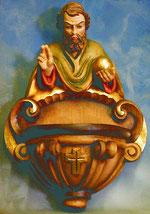 Bild Weihwasserkessel - segend Nr. 218 handgeschnitzt aus Holz