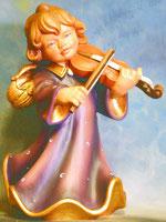 Bild Holzfigur Engel mit Geige Nr. 352 handgeschnitzt
