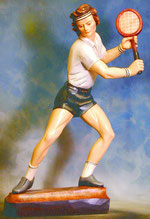 Bild Holzfigur Tennisspieler Nr. 217 handgeschnitzt