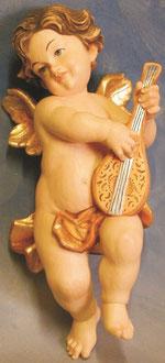 Bild Holzfigur Engel mit Laute Nr. 396 handgeschnitzt