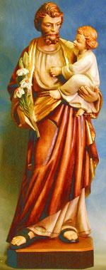 Bild Holzfigur Hl. Josef mit Kind Nr. 254 handgeschnitzt