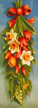 Bild Blumen Frühling Nr. 361 handgeschnitzt aus Holz