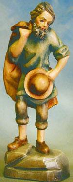 Bild Holzfigur Hirte mit Hut und Mantel Nr. 916 handgeschnitzt