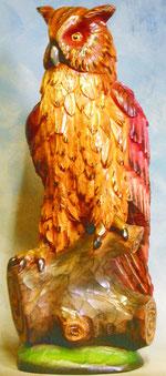 Bild Holzfigur Eule Nr. 108 handgeschnitzt