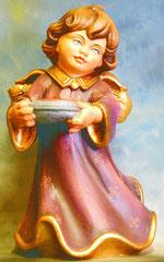 Bild Holzfigur Engel mit Attributskissen Nr. 353 handgeschnitzt