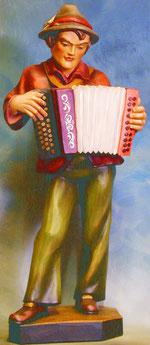 Bild Holzfigur Musikant Nr. 143 handgeschnitzt