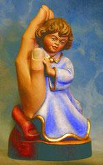 Bild Holzfigur Mädchen in Hand Nr. 333 handgeschnitzt