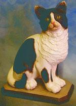 Bild Holzfigur Katze Nr. 421 handgeschnitzt