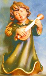 Bild Holzfigur Engel mit Mandoline Nr. 349 handgeschnitzt