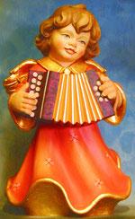 Bild Holzfigur Engel mit Quetsche Nr. 354 handgeschnitzt