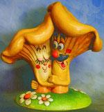 Bild Holzfigur Pfifferlinge Nr. 452 handgeschnitzt