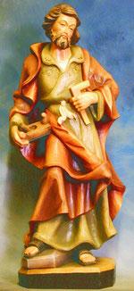 Bild Holzfigur Josef mit Winkel und Hobel Nr. 70 handgeschnitzt