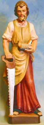 Bild Holzfigur Josef mit Säge und Hobel Nr. 541 handgeschnitzt