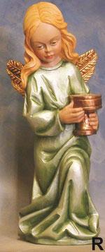Bild Holzfigur Engel mit Kerzenhalter Nr. 149 R handgeschnitzt