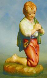 Bild Holzfigur Hirtenjunge betend Nr. 922 handgeschnitzt