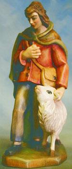 Bild Holzfigur Hirte mit Schaf Nr. 924 handgeschnitzt