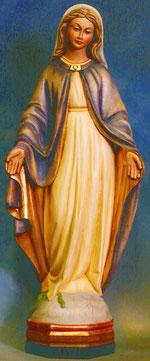Bild Holzfigur Maria empfangend Nr. 29 handgeschnitzt