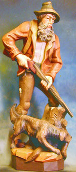Bild Holzfigur Jäger Nr. 121 handgeschnitzt