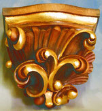 Bild Wandkonsole -barock- handgeschnitzt aus Holz