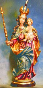 Bild Holzfigur Madonna Nr. 190 handgeschnitzt
