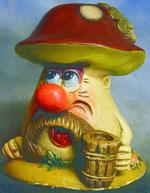 Bild Holzfigur Zecher Pilz Nr. 450 handgeschnitzt