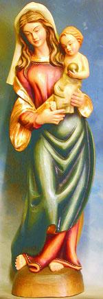 Bild Holzfigur Madonna Nr. 2 handgeschnitzt