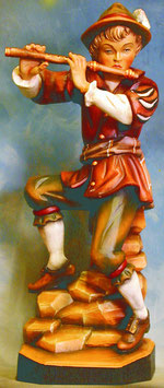 Bild Holzfigur Flötenspieler Nr. 116 handgeschnitzt