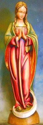 Bild Holzfigur Sichelmadonna Nr. 383 handgeschnitzt