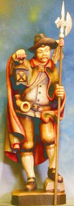 Bild Holzfigur Nachtwächter Nr. 69 handgeschnitzt