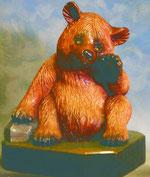 Bild Holzfigur Bär sitzend Nr. 231 handgeschnitzt