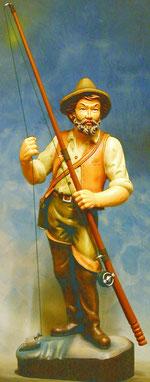 Bild Holzfigur Angler Nr. 280 handgeschnitzt