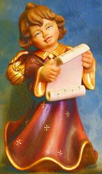 Bild Holzfigur Engel mit Notenblatt Nr. 355 handgeschnitzt