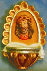 Bild Weihwasserkessel-Christus Nr. 148 handgeschnitzt aus Holz