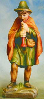 Bild Holzfigur Hirte mit Flöte Nr. 918 handgeschnitzt