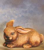 Bild Holzfigur Hase liegend handgeschnitzt