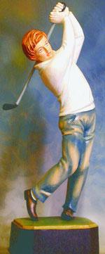 Bild Holzfigur Golfspieler Nr. 229 handgeschnitzt