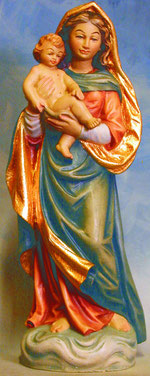 Bild Holzfigur Sixtinische Madonna Nr. 198 handgeschnitzt