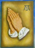 Bild betende Hände -nach Dürre- Nr. 346 handgeschnitzt aus Holz