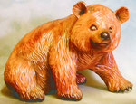 Bild Holzfigur Bär Nr. 230 handgeschnitzt