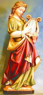 Bild Holzfigur Hl. Cäcilia Nr. 14 handgeschnitzt