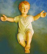 Bild Holzfigur Jesukind liegend Nr. 114 handgeschnitzt