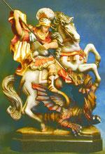 Bild Holzfigur Hl. Georg Nr. 1104 handgeschnitzt