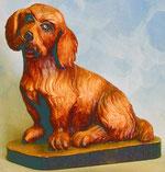 Bild Holzfigur Hund/Terrier Nr. 394 handgeschnitzt