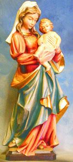 Bild Holzfigur Madonna Nr. 37 handgeschnitzt